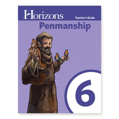 Horizons 6th Grade Penmanship Teacher's Guide from Alpha Omega Publications