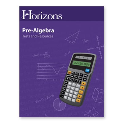 Horizons Pre-Algebra Tests and Resources Book from Alpha Omega Publications