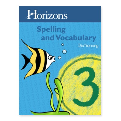 Horizons 3rd Grade Spelling & Vocabulary Dictionary from Alpha Omega Publications