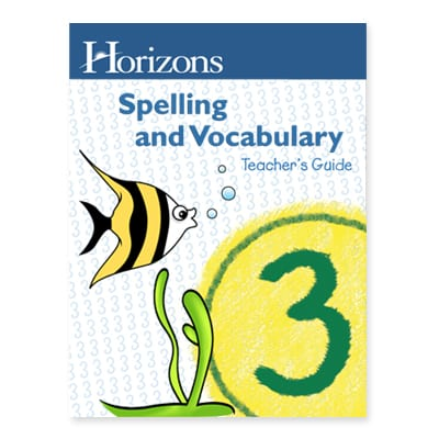 Horizons 3rd Grade Spelling & Vocabulary Teacher's Guide from Alpha Omega Publications