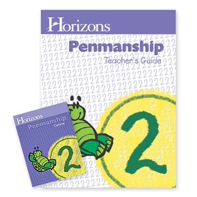 Horizons 2nd Grade Penmanship Teacher's Guide from Alpha Omega Publications