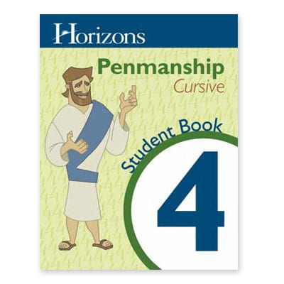 Horizons 4th Grade Penmanship Student Book from Alpha Omega Publications