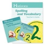 Horizons 2nd Grade Spelling & Vocabulary Set from Alpha Omega Publications