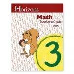Horizons 3rd Grade Math Teacher's Guide from Alpha Omega Publications