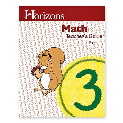 Horizons 3rd Grade Math Teacher's Guide from Alpha Omega Publications