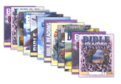 4th Grade Bible Reading Pace Set