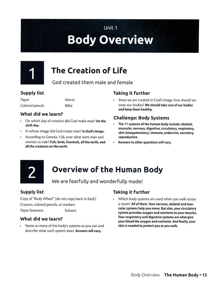 Human Body Complete Set by Answers in Genesis