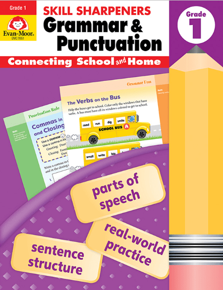 Skills Sharpeners: Grammar & Punctuation, Grade 1, from Evan-Moor -  Curriculum Express